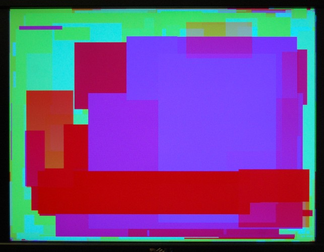 The framebuffer being filled by the TG68.
